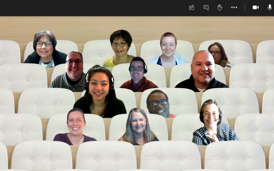 MicroSoft Teams group photo of attendees during one of FI$Cal's Learning Center pilot feedback sessions.